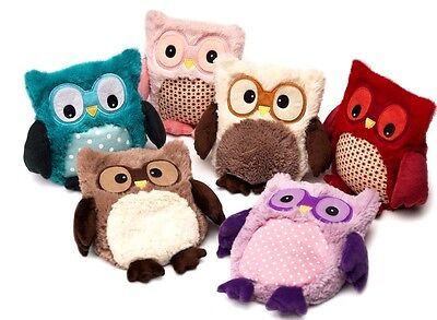 Warmies Hooty Owl Microwavable Heatable Lavender Scented Hottie Cuddly Soft Toys