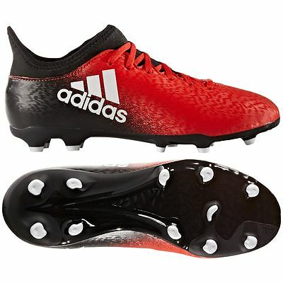 adidas X 16.3 FG 2016 Soccer Shoes Cleats Red / Black / White Kids - Youth