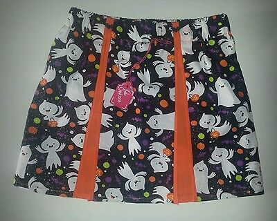 New Girls Sparkly Pleated Halloween Skirt. Age  4-6 Emo Goth Fancy Dress