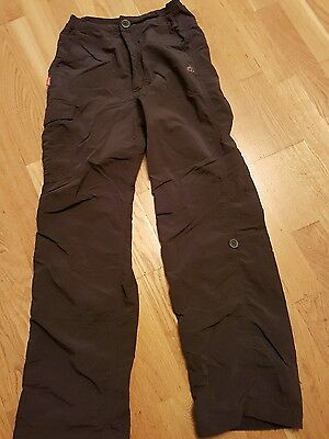 Charcoal Grey Craghoppers walking trousers. age 11/12.  Ideal for Cubs/ Beavers.