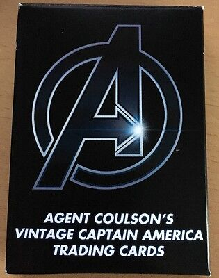 "Agent Coulson's Vintage Captain America Trading Cards"" Efx - Avengers"