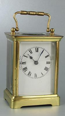 ANTIQUE FRENCH CARRIAGE CLOCK 8 day WORKING ORDER minor restoration