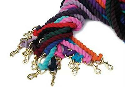 Rhinegold Cotton Lead Rope BABY BLUE Horse Pony Cob lead tie tether show daily