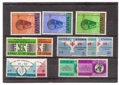 Ethiopie 1968/69/70 5 Serie Complete Mnh Offre Speciale