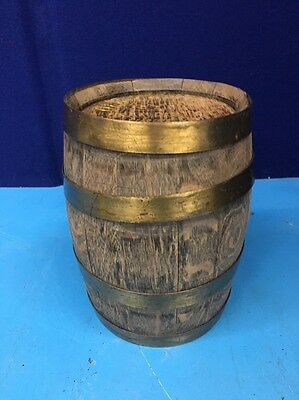 "Vintage Old Capitol Rye Whiskey Wood Barrel St Louis Missouri 10"" Tall FBZ6"