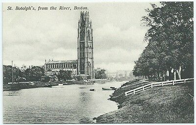 Vintage Postcard. St.Botolph's From The River, Boston.Unused Pre-1919. Ref:6.437