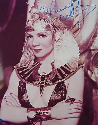 Striking  Claudette Colbert 10X8 hand signed photo from Cleopatra COA