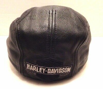 Harley Davidson Mens Nostalgic Leather Cap M