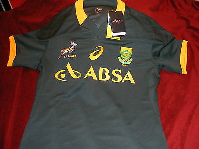 Authentic Official South Africa Asics Test Rugby Jersey 2Xl