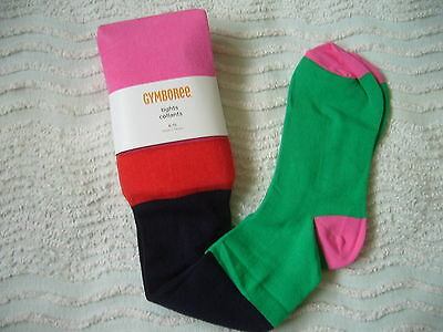 Bnwt Gymboree Stretch Tights 8/10 Years Multi Colour Stripes