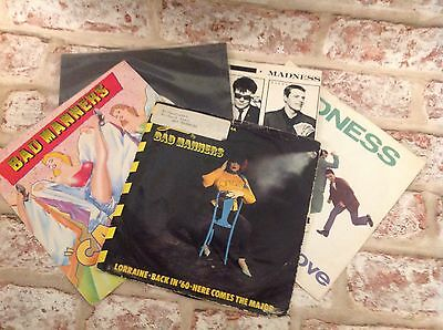 Madness and Bad Manners Vinyl record singles 45's