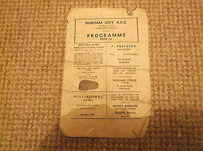 DURHAM CITY v BISHOP AUCKLAND  NORTHERN LEAGUE  1956