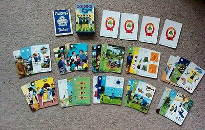 VINTAGE & Retro Girl Guides **Guiding Card Game** 1950s - super rare, free P&P