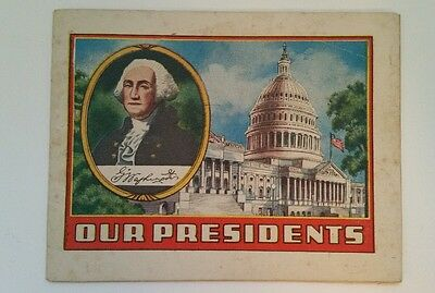 Vintage Our Presidents Guide Book Elkhart Indiana 1930's