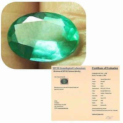1.68 ct Natural Certified, Earth Mined Emerald