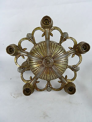 Antique Vintage Art Deco Style Hanging Ceiling Light Fixture 5 Down Bulb