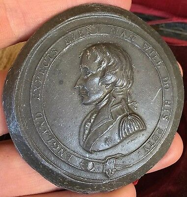 Important Lead Trial Piece. Trafalgar Nelson Testimonial Medal, 1844. By E Avern