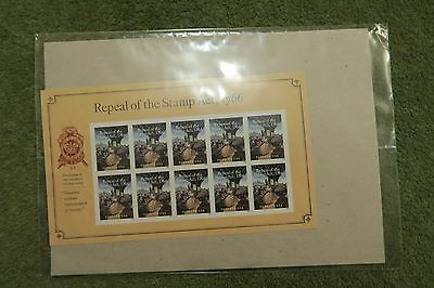 USA 2016 STAMPS Repeal of the Stamp Act 1766 sheet of 10 unopened
