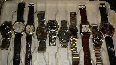 Trade Only Job Lot Of 10 X  Mixed  Watches 100% Gen..