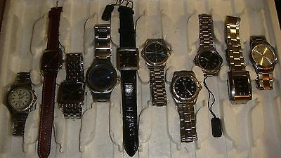 Trade Only Job Lot Of 10 X  Mixed  Watches 100% Gen.. ////