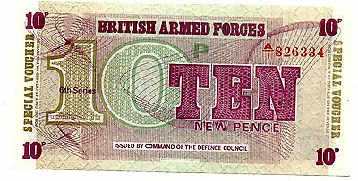 BRITISH ARMED FORCES 10p NOTE UNCIRCULATED