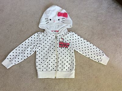H&M Hello Kitty Girl Hoody Cardigan Jacket