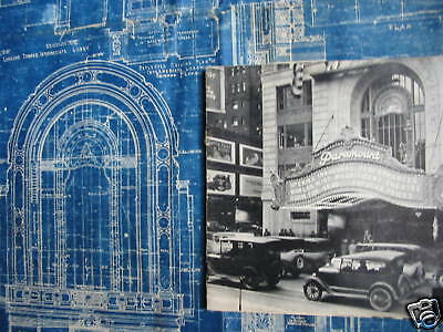 1925 PARAMOUNT PICTURES Theater Blueprint NEW YORK CITY One of a kind!!!!!!!