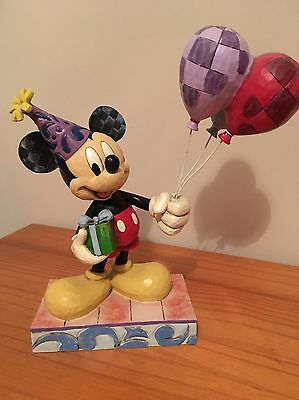 Disney Traditions Mickey  'cheerful Celebration' Figure in the box c/w tag