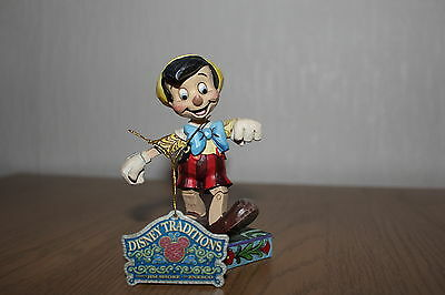 Disney Traditions Pinocchio `lively step` figure in box