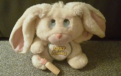 Rare Galoob 1989 Lost 'n Founds Honey Rabbit vintage 80's Kids soft toy teddy