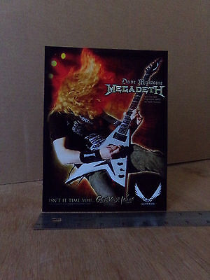 Megadeth / Dave Mustaine / Dean Guitar / Glossy Slick / Countertop Standee 2