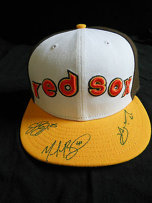 Mookie Betts, Xander Bogaerts+Jackie Bradley Jr. Signed 2016 All Star Hat-Rare!