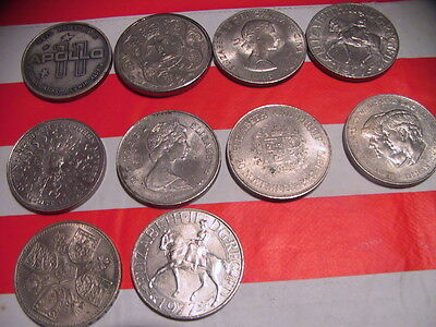 collection of five shilling pieces