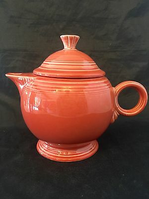 Fiesta Fiestaware Retired Persimmon Color Teapot with Lid 5 cups
