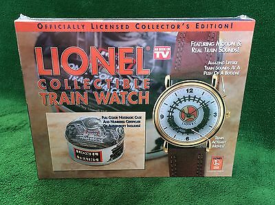 Lionel Collectible Train Watch New Sealed With Case- Tin - COA Motion and Sound