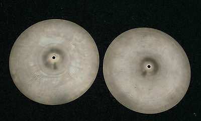 "Zildjian Vintage  16"" Crash/ Hi-Hat Cymbals. A Pair from the Early 1970's."