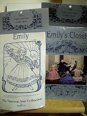 Emily Porcelain Doll Making Kit with Clothes Patterns by Vanessa-Ann NEW