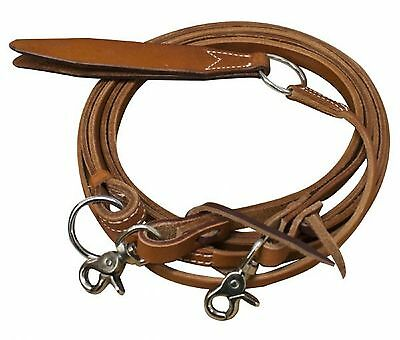Premium Cowhide Leather Rommel Romel Romal Reins With Snaps New Horse Tack