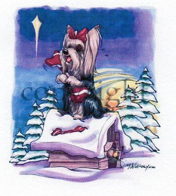 Yorkshire Terrier Christmas Card by Mike McCartney