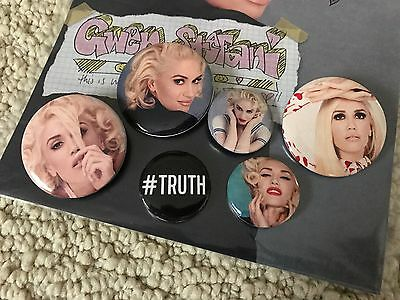 New Gwen Stefani This is What the Truth Feels Like Tour Badge Button Pin Set