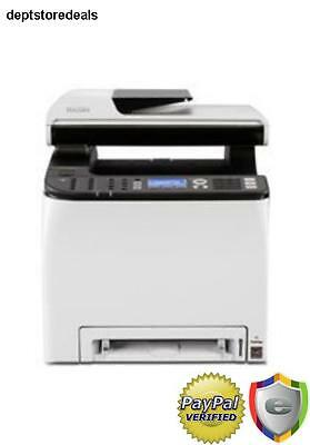 Ricoh Wireless Color Printer w/ Scanner Copier & Fax Ppm Sheet Paper Tray Bypass