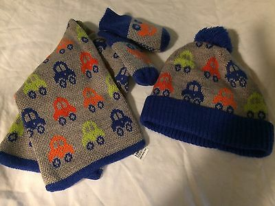 Marks And Spencer Boys Hat, Scarf And Gloves 6-18months
