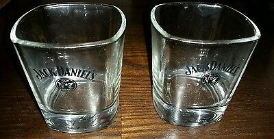 Jack Daniels Whiskey Glasses Old Number 7  Square Bottoms