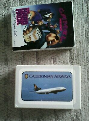 Playing cards Caledonian Airways and Camel new