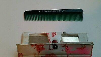 Vintage White Gate Insurance Prairie du Chien Wisconsin WI Advertising Comb