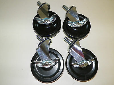 Seville Classics Work Table Locking Casters Set of 4