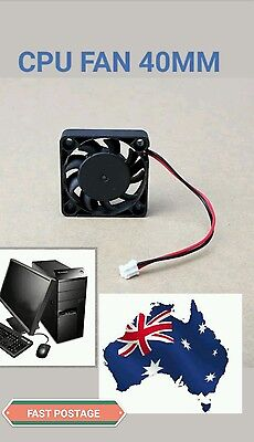 12V 2 Pin 0.1A 40mm Computer Cooler Cooling Fan PC Black. AUS STOCK. BRAND NEW