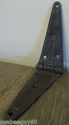 "Barn Door 8 Hole HINGE 11 3/4""L Original condition Barn Door hardware"
