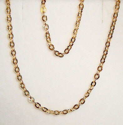 """10k yellow gold(1.5mm) open cable chain(1.6gr/16""""inch)"""