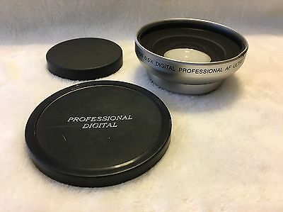 58mm 0.5X Ultra Wide Angle Camera Lens w/Macro Adapter Close Up Canon Nikon